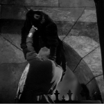 Quaismodo throws Frollo out the window  1939 Hunchback of Notre dame  picture image