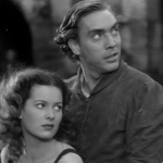The Esmeralda and Gringoire at the end (Maureen O'Hara, Edmond O'Brien) 1939 Hunchback of Notre Dame picture image