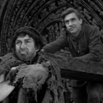 pillory cut 1 -Gringoire and Clopin Edmond O'brein Thomas Mitchell 1939 Hunchback of Notre dame  picture image