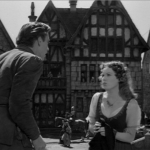 pillory 12 -Gringoire and Esmealda  Edmond O'brein Maureen O'hara 1939 Hunchback of Notre dame  picture image