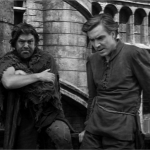 pillory 9 - Gringoire and Clopin Edmond O'brein Thomas Mitchell 1939 Hunchback of Notre dame  picture image