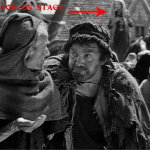 Beggar and Clopin Medium shot 1939 Hunchback of Notre Dame picture image