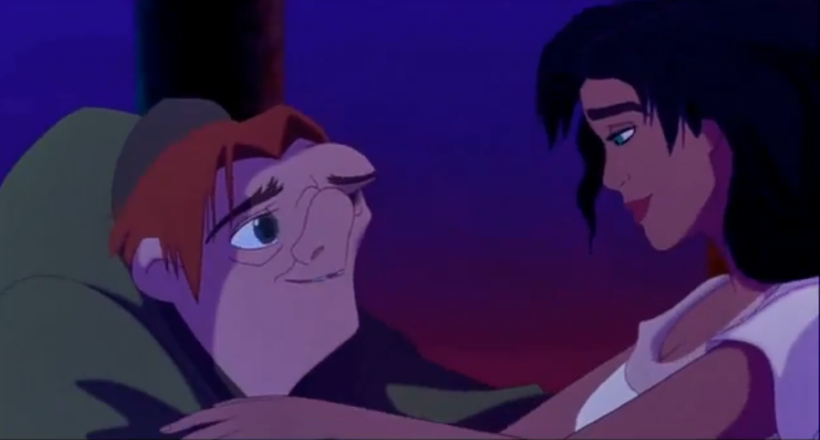 Esmeralda and Quasimodo Disney Hunchback of Notre dame picture image