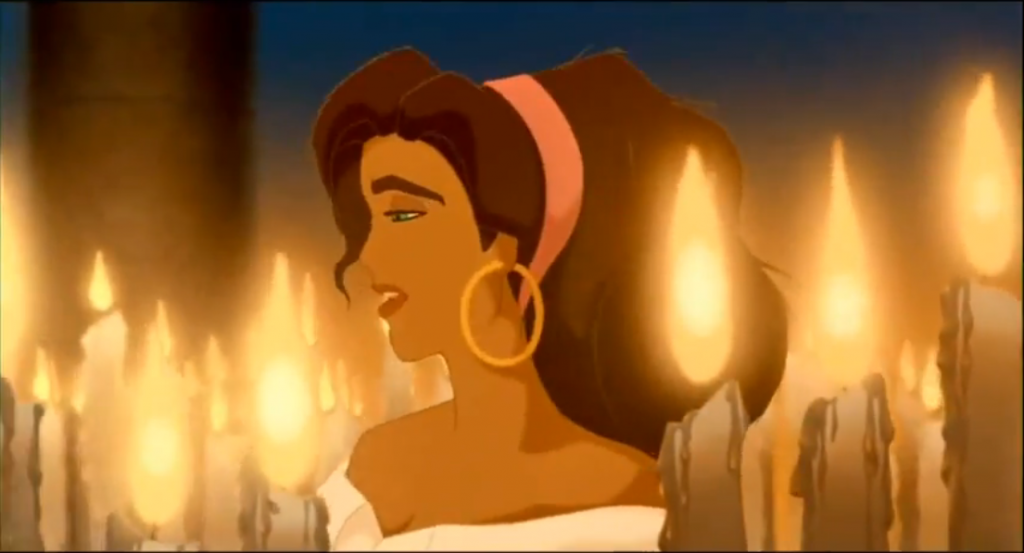 "Esmeralda Disney Hunchback of Notre Dame singing ""God Help the Outcast"" picture image"