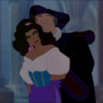 Frollo Hunchback of Notre Dame groping Esmeralda picture image