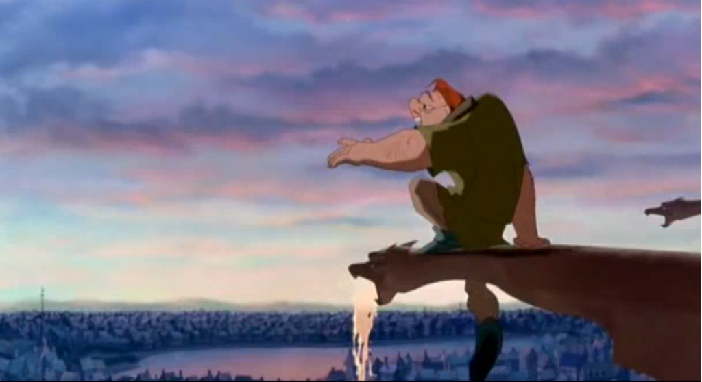 "Quasimodo singing ""Out There"" Hunchback of Notre Dame Disney picture image"