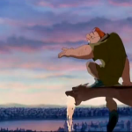 "Quasimodo singing ""Out There""  Disney Hunchback of Notre Dame  picture image"