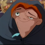 Quasimodo gazing at Esmeralda  Disney Hunchback of Notre Dame  picture image