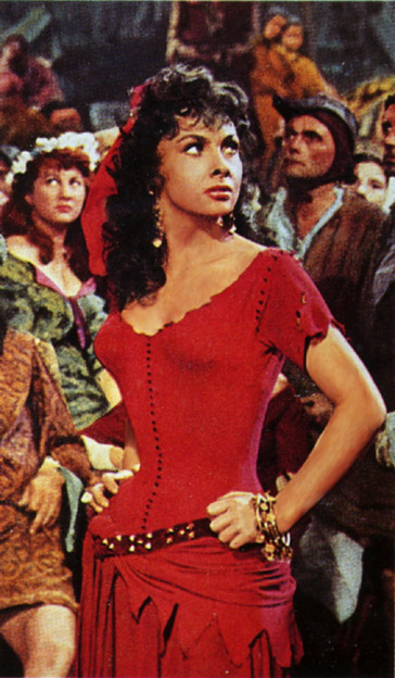 Gina Lollobrigida 1956 as Esmeralda picture image