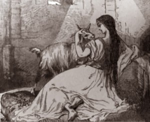 19th Century Illustration of Esmeralda with Dj
