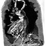 19th Century Illustration of Esmeralda with Djali