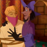 Clopin about to hang Phoebus and Quasimodo Disney Hunchback of Notre Dame picture image