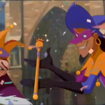"Clopin presenting Quasimodo as the ""King of Fools"" Disney Hunchback Notre Dame picture image"