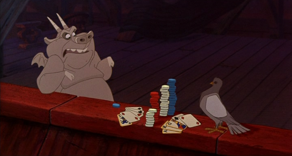 Hugo playing poker Disney Hunchback of Notre Dame picture image