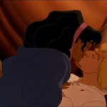 Phoebus and Esmeralda Kiss Disney Hunchback of Notre Dame