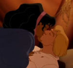 Phoebus and Esmeralda Kiss Disney Hunchback of Notre Dame picture image
