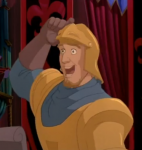 "Phoebus noticing Esmeralda ""Disgusting Display"" Disney Hunchback of Notre Dame picture image"