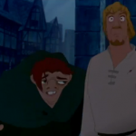 Phoebus and Quasimodo warn Esmeralda Disney Hunchback of Notre Dame