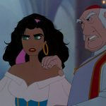 Archdeacon and Esmeralda Disney Hunchback of Notre Dame picture image