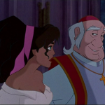 Archdeacon and Esmeralda Disney Hunchback of Notre Dame face picture image
