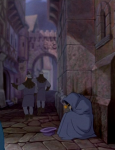 Brute and Oaf shooing nobody Disney Hunchback of Notre Dame picture image
