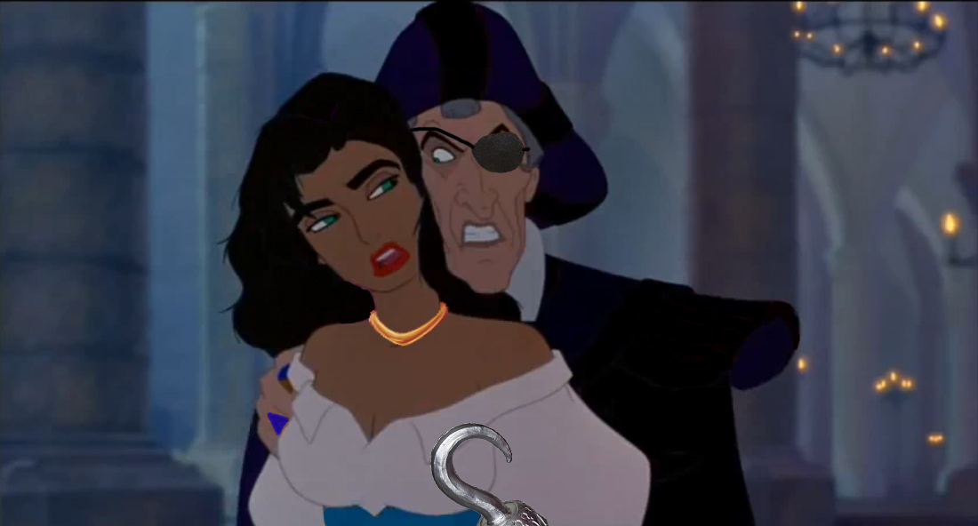Esmeralda and Frollo Disney Hunchback of Notre Dame Differences Picture