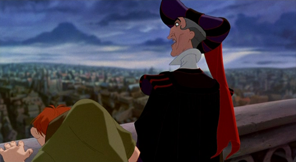 Frollo and Quasimodo during Out There Disney Hunchback of Notre Dame picture image