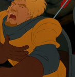 Disney Phoebus Hunchback of Notre Dame picture image hit by arrow