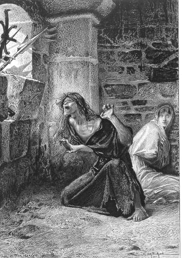 Illustration Sister Gudule and Esmeralda by  Luc Oliver Merson picture image