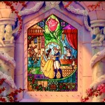 Beauty and the Beast Ending Shot Stained Glass Disney picture image