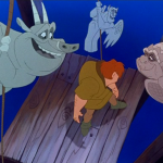 Gargoyles and Quasimodo A Guy like you Disney Hunchback of Notre Dame picture image