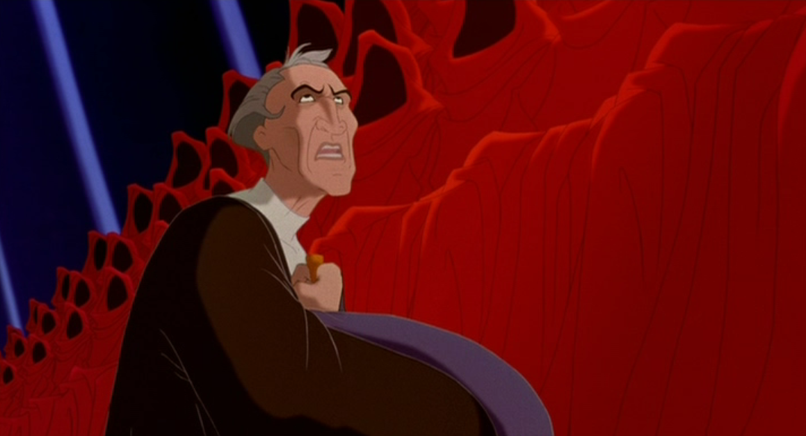 Frollo singing Hellfire Disney Hunchback of Notre Dame picture image