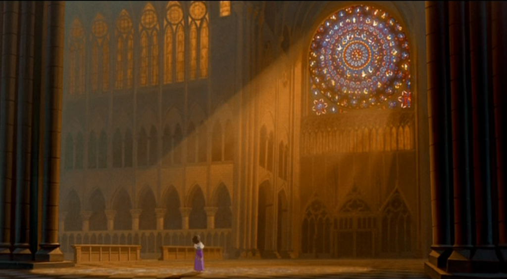 Esmeralda singing God Help the Outcasts Disney Hunchback of Notre Dame picture image