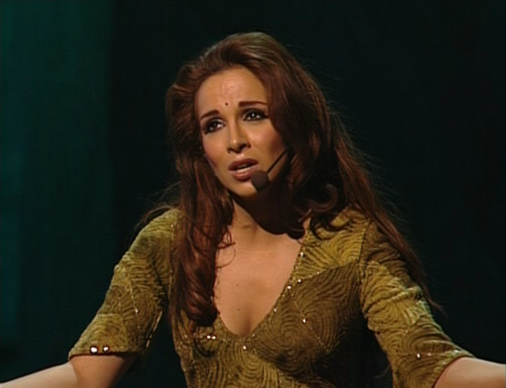 Helene Segara singing Ave Maria Paien in Notre Dame de Paris picture image