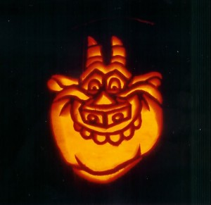 Hugo on a Pumpkin by Pumpkinman_01 from Disney Hunchback of Notre Dame picture image