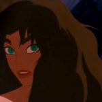 Esmeralda about to burn Disney Hunchback of Notre Dame  picture image