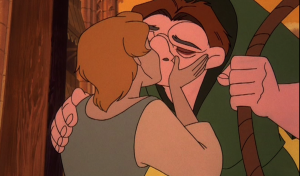 Madeline and Quasimodo kiss Sequel Hunchback of Notre Dame II Disney picture image