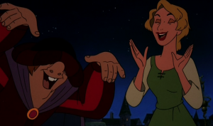 Madeline and Quasimodo laugh about Dumb Topic Sequel Hunchback of Notre Dame II Disney picture image