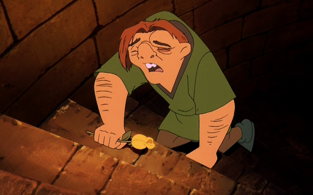 Quasimodo cries Sequel Hunchback of Notre Dame II Disney picture imageQuasimodo Disney Sad