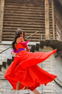Mikan-takaumias Esmeralda in the Red Dress Disney Version costume Cosplay picture image