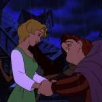 Madeline and Quasimodo Fa la la la Fallen In Love Hunchback of Notre Dame II Disney 2 Sequel picture image