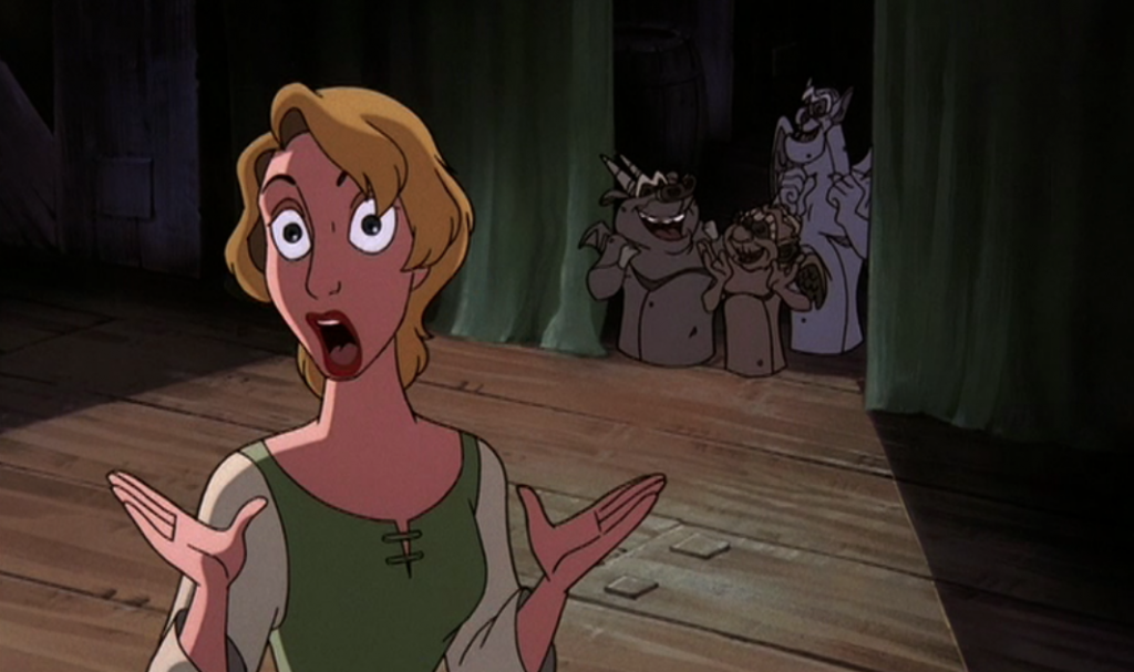 Madeline looking scary in a in-between Frame Hunchback of Note Dame II Disney 2 Sequel picture image