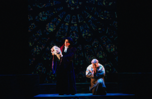 Frollo (Norbert Lamla) with Baby Quasimodo and the Archdeacon Der Glöckner von Notre Dame