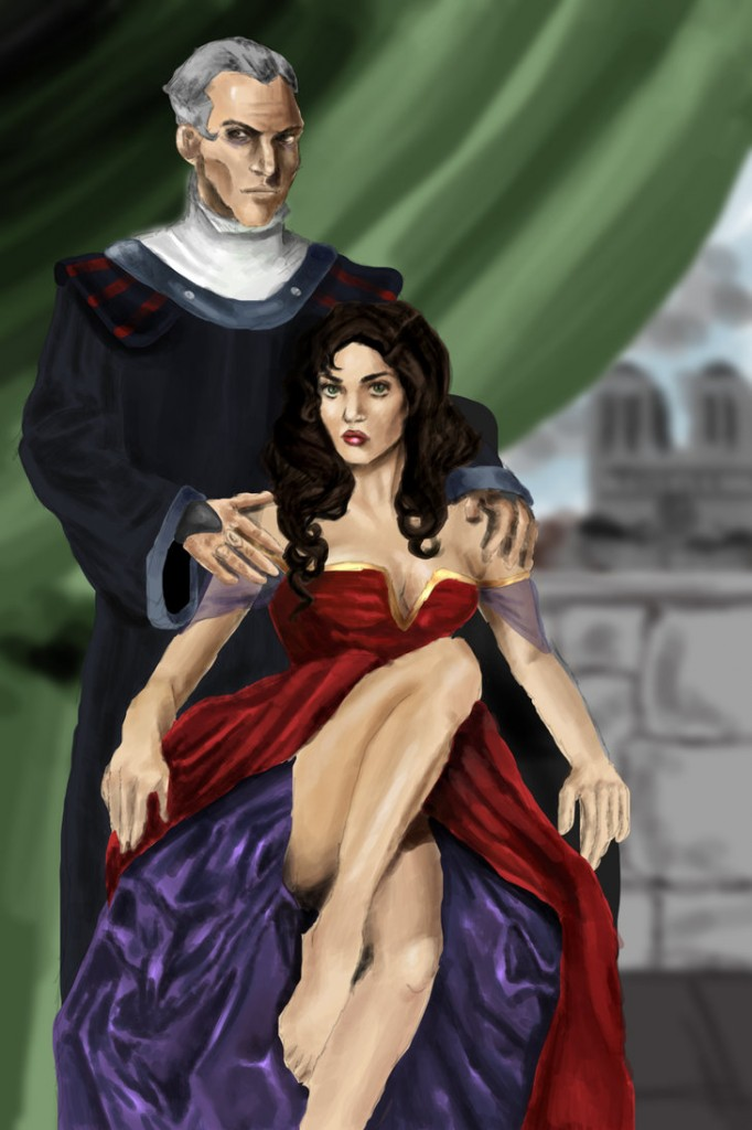 Esmeralda and Frollo by Mize meow picture image