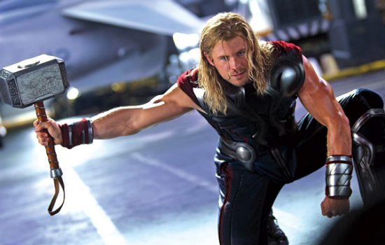 Chris Hemsworth as Thor in The Avengers Picture image