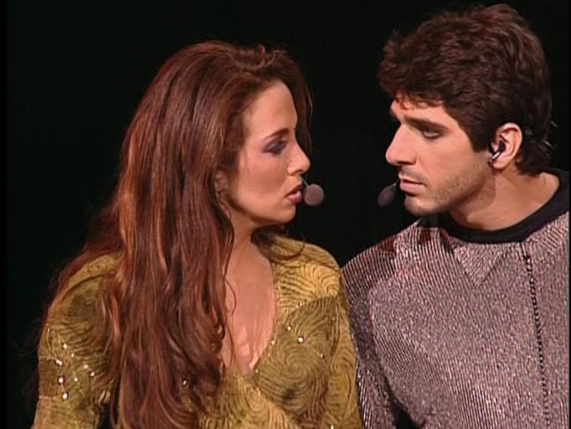 Helene Segara as Esmeralda and Patrick Fiori as Phoebus Notre Dame de Paris picture image