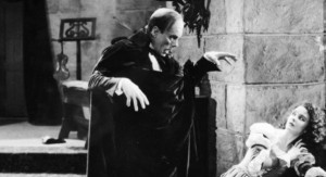 Lon Chaney as the Phantom of the Opera With Mary Philbin picture image