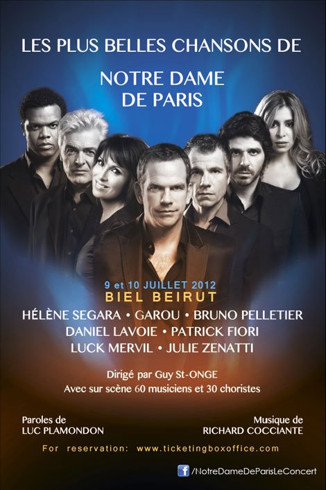Notre Dame de Paris Beirut Concerts 2012 picture image