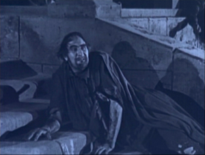 Clopin (Ernest Torrence) Dying 1923 The Hunchback of Notre Dame image picture
