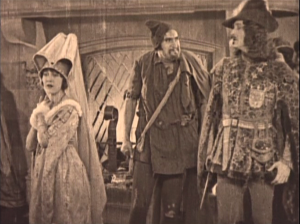 Clopin (Ernest Torrence), Esmeralda (Patsy Ruth Miller) & Phoebus (Norman Kerry) 1923 The Hunchback of Notre Dame picture image
